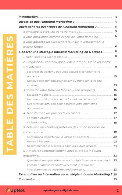 table des matières livre inbound marketing petit