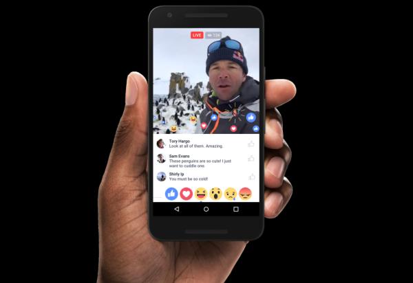 animation réseaux sociaux : facebook live